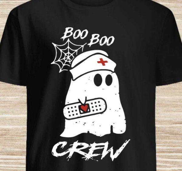 nurse ghost boo boo crew shirt hoodie sweater tank top