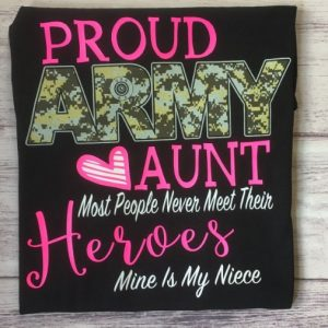 proud army aunt shirt hoodie sweater tank top