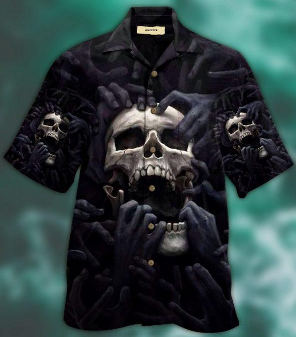 Dark Skull Hawaiian Shirt