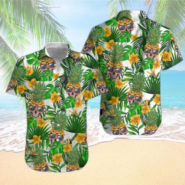 Pineapple Skull Hawaiian Shirt