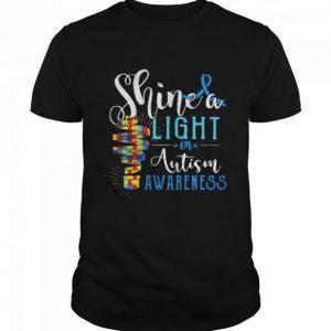 Shine A Light On Autism Awareness Shirt Hoodie sweater tank top