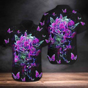 Skull And Butterfly Hawaiian Shirt