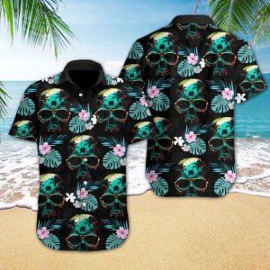 Skull Beach Hawaiian Shirt