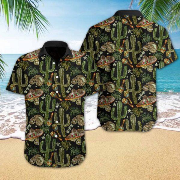 Skull Cactus Hawaiian Shirt