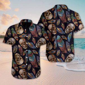 Skull Feather Hawaiian Shirt