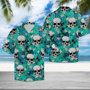 Tropical Skull Hawaiian Shirt
