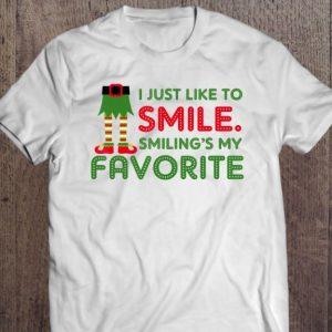 elf smiling is my favorite shirt hoodie sweater tank top