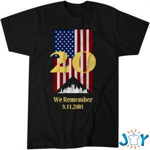 years we remember  with ny skyline and flag shirt M