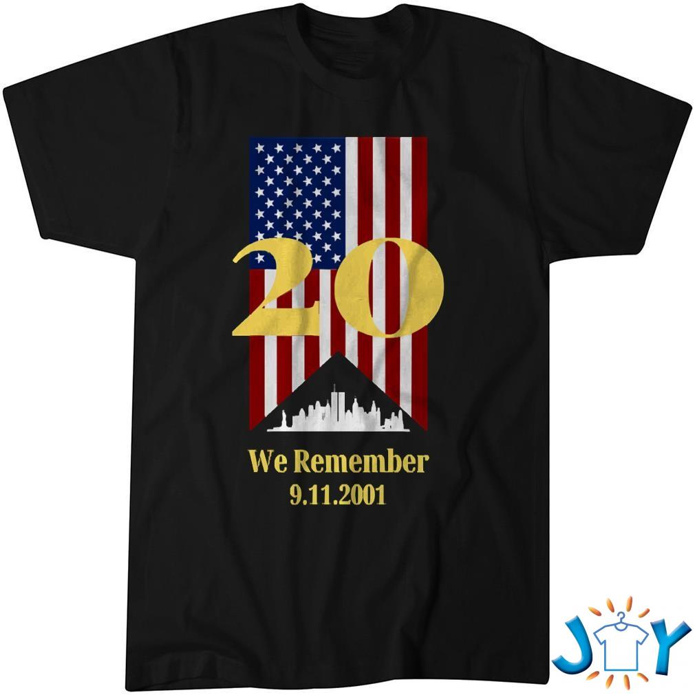 20 Years We Remember 911 With Ny Skyline And Flag Shirt