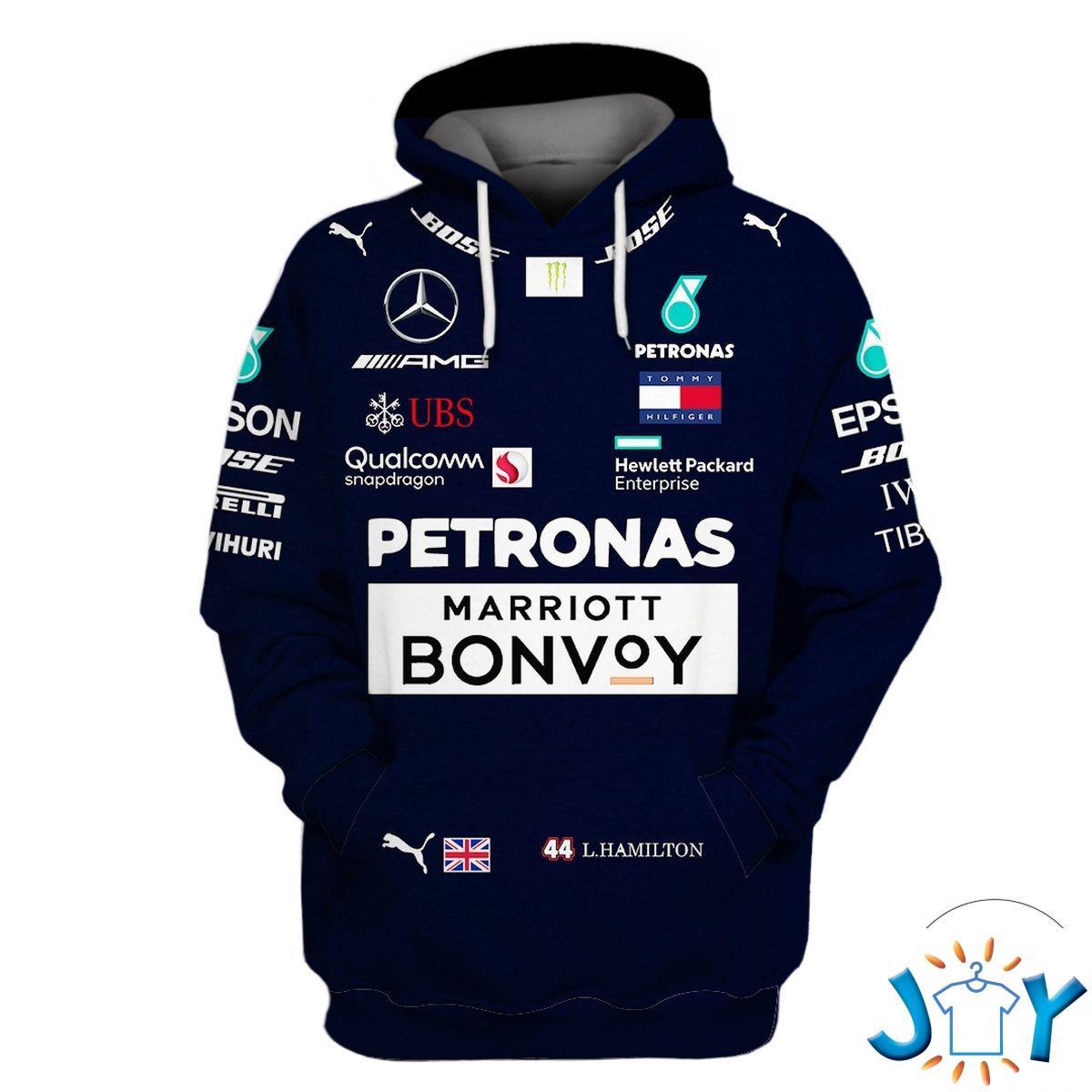 2018 Lewis Hamilton Mercedes F1 3D Hoodie