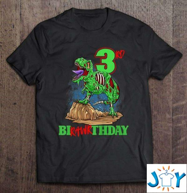 rd birthday zombie dinosaur t rex party toddler  years old shirt M