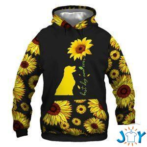 things about this woman a dog mom sun flowers d hoodie