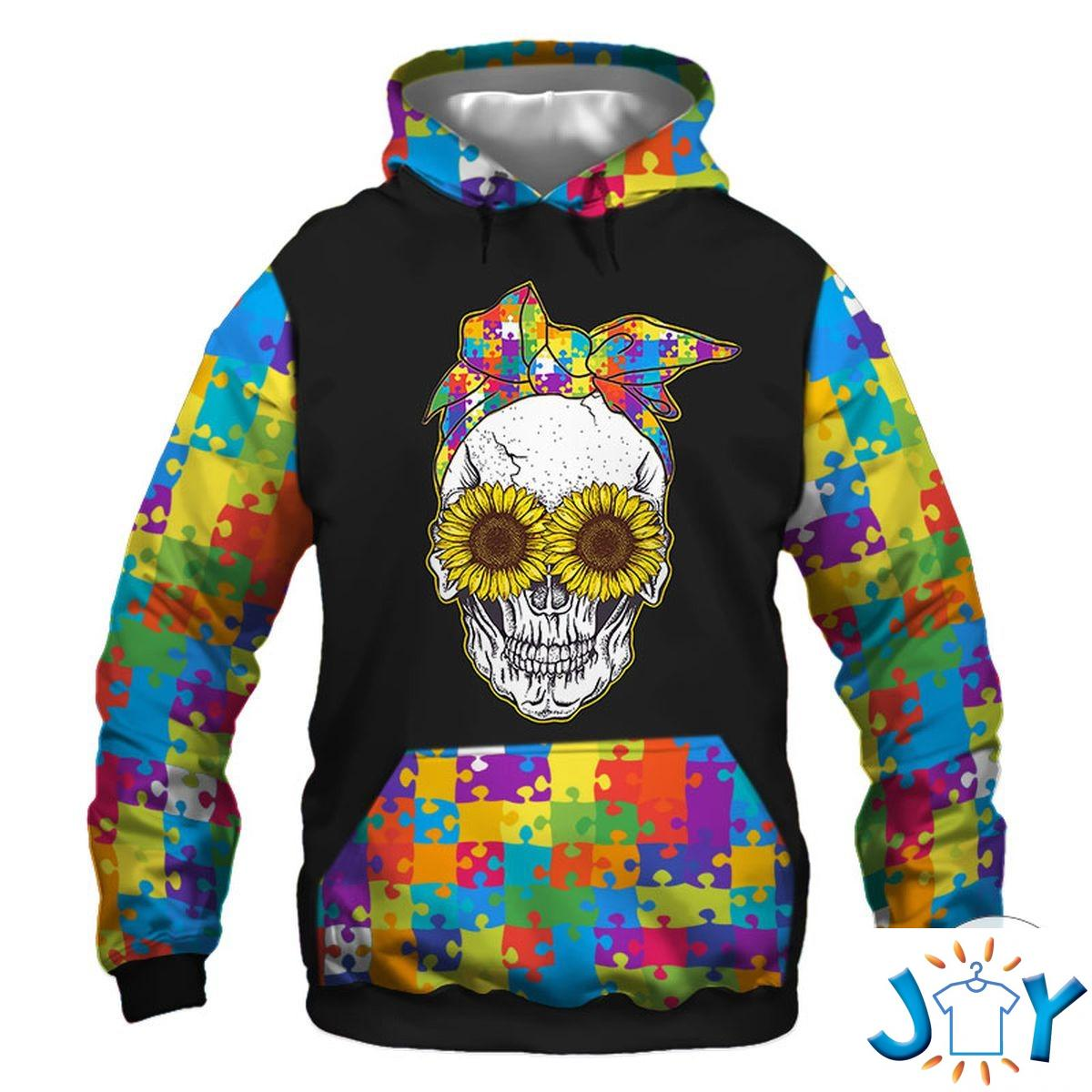 5 Things About This Woman- An Autism Mom Sunflower 3D Hoodie