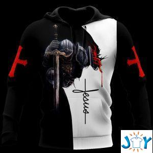 a child of god a man of faith a warrior of christ d hoodie
