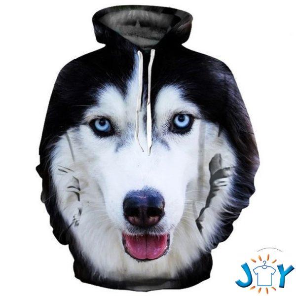alaskan malamute d all over print hoodie