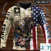 all gave some some gave all us army eagle american flag personalized d hoodie