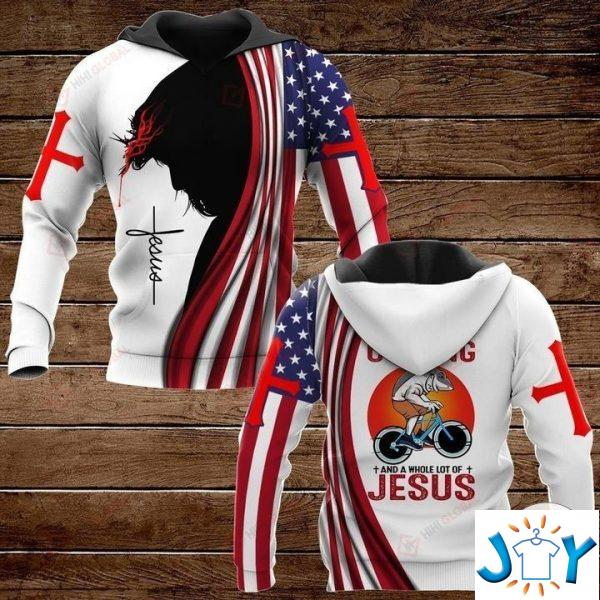 all i need today is a little bit of cycling and a whole lot of jesus hawaiian shirt hoodies and sweatshirt