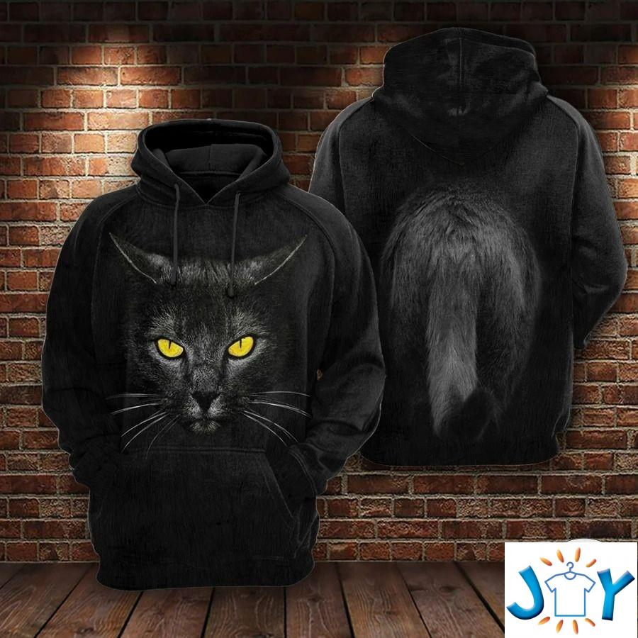 Angry Black Cat 3D All Over Print Hoodies