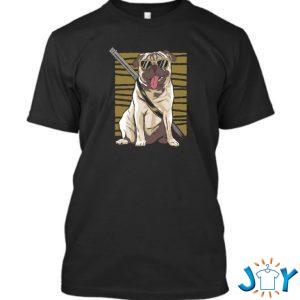 armed pug t shirt