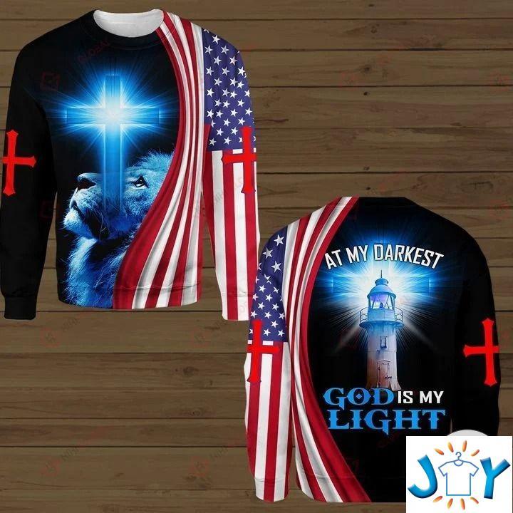 At My Darkest God Is My Light Tiger 3D Hoodies, Sweatshirt, Hawaiian Shirt