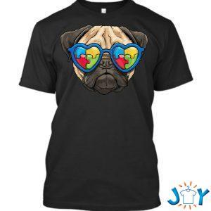 autism awareness pug dog puzzle boys kids t shirt