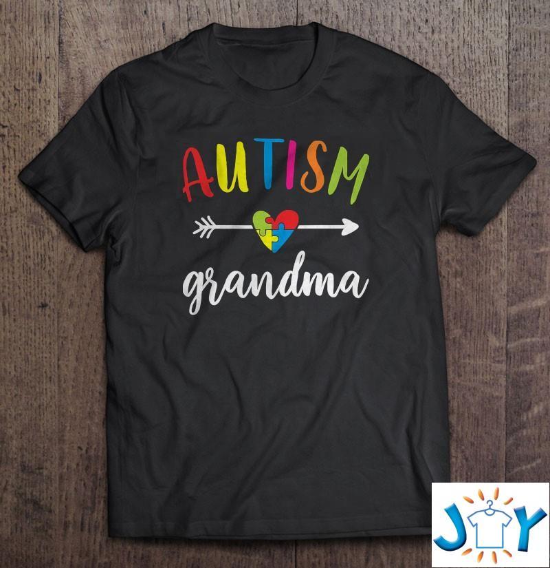 Autism Grandma Autism Awareness Grandmothers Shirt