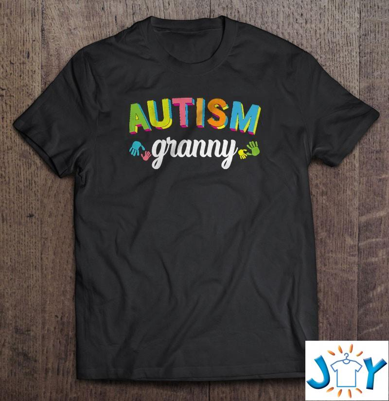 Autism Granny Awareness Im A Proud Granny Of A Warrior Shirt