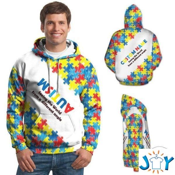 autism seeing the world from a different angle d hoodie