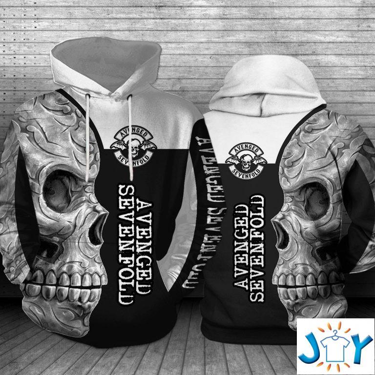 Avenged Sevenfold Skull 3D Hoodie