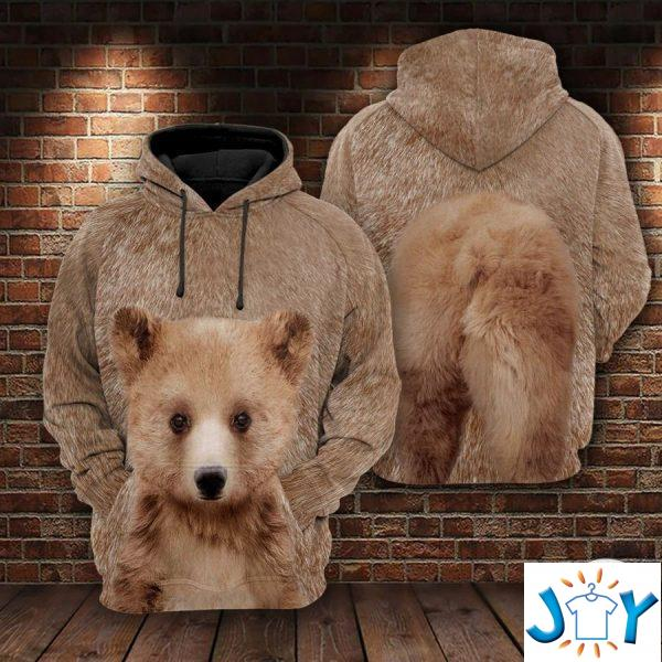 baby bear d all over print hoodie