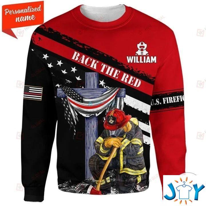 Back In The Red Us Firefighter 3D Hoodies, Sweatshirt, Hawaiian Shirt