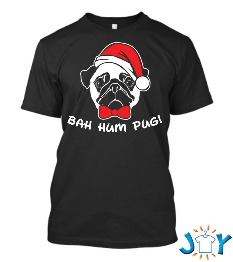 Bah Hum Pug Scrooge Grinch Christmas T Shirt