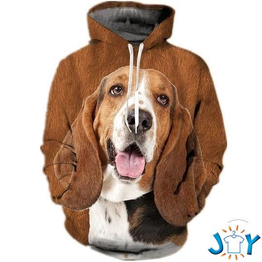 Basset Hound 3D All Over Print Hoodie