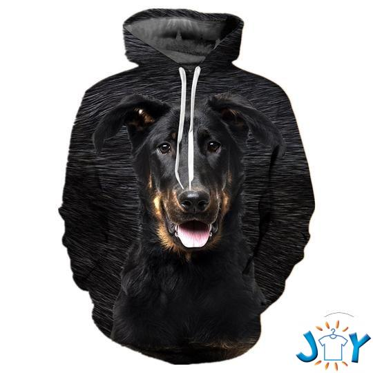 Beauceron 3D All Over Print Hoodie