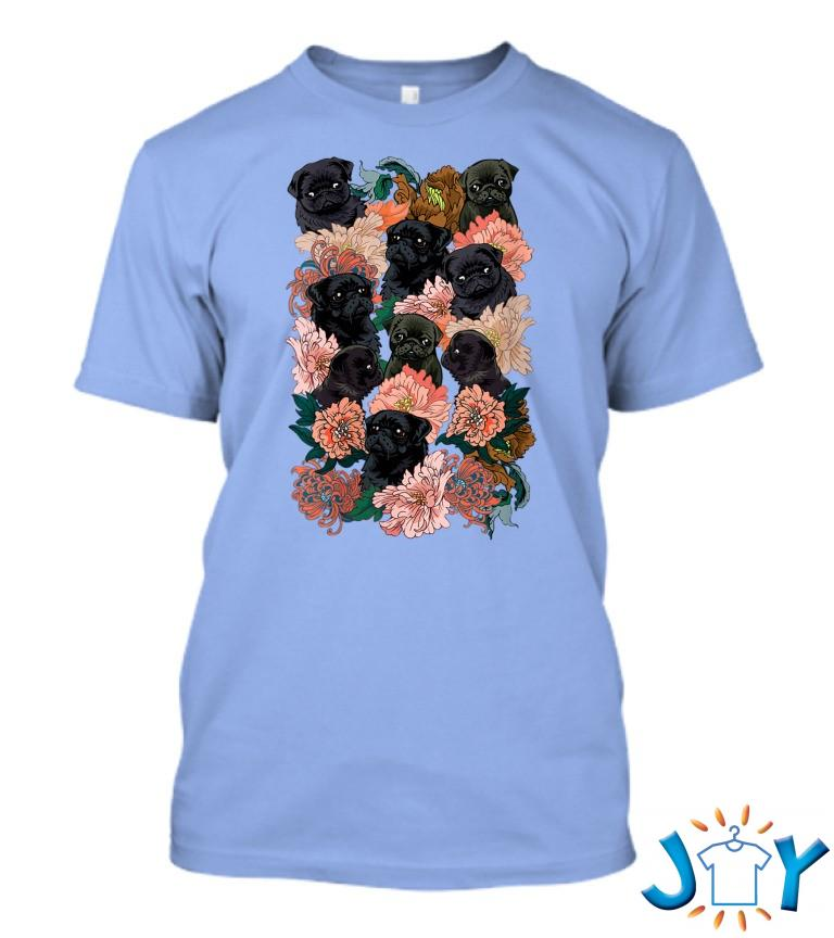 Because Black Pug T Shirt