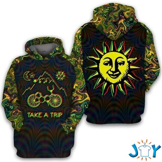 Bicycle Day Take A Trip 3D All Over Print Hoodie