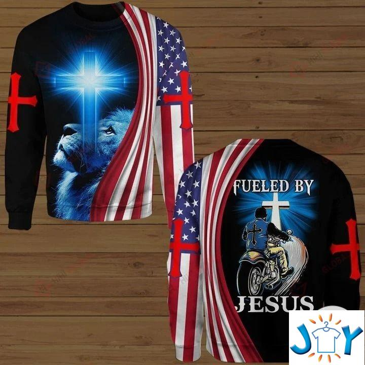 Biker Fueled By Jesus 3D Hoodies, Sweatshirt, Hawaiian Shirt