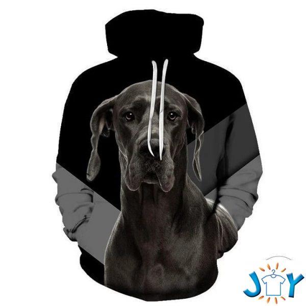 black great dane d all over print hoodie