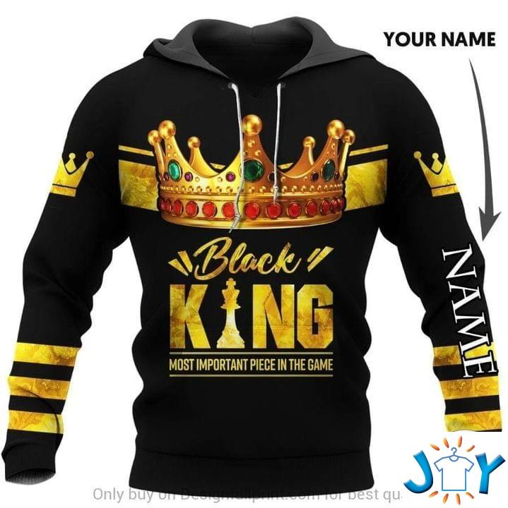 Black King Most Important Piece In The Game 3D Hoodie