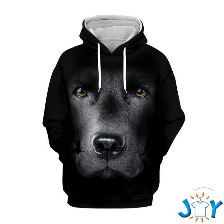 Black Labrador Retriever Gaze 3D Hoodie