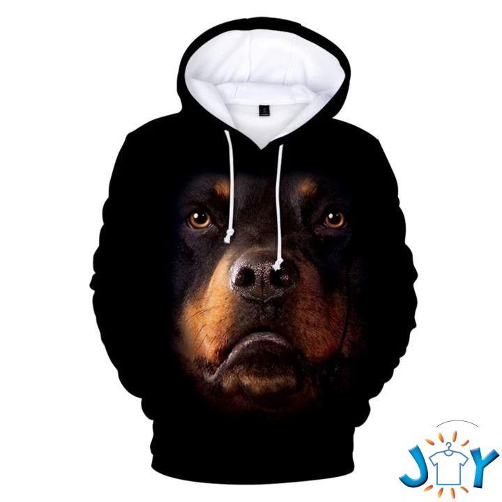 Black Rottweilers 3D All Over Print Hoodie