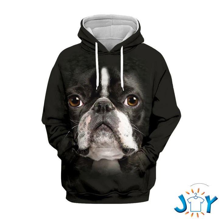 Boston Terrier 3D All Over Print Hoodie