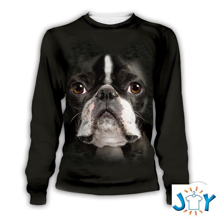 Boston Terrier 3D Sweatshirts