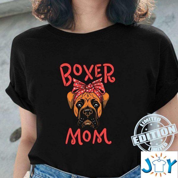 boxer mom artwork for a dog owner t shirt M