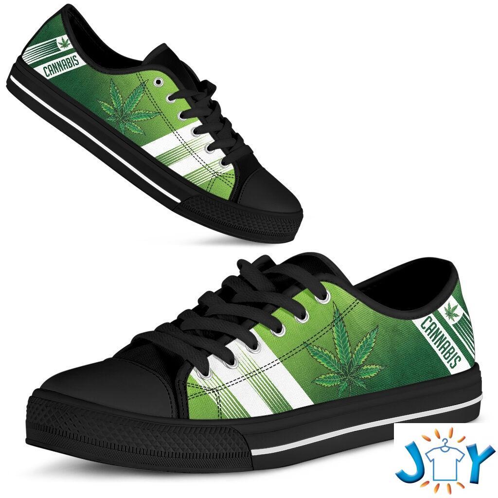 Cannabis Leaf Marijuana Weed Low Top Shoe