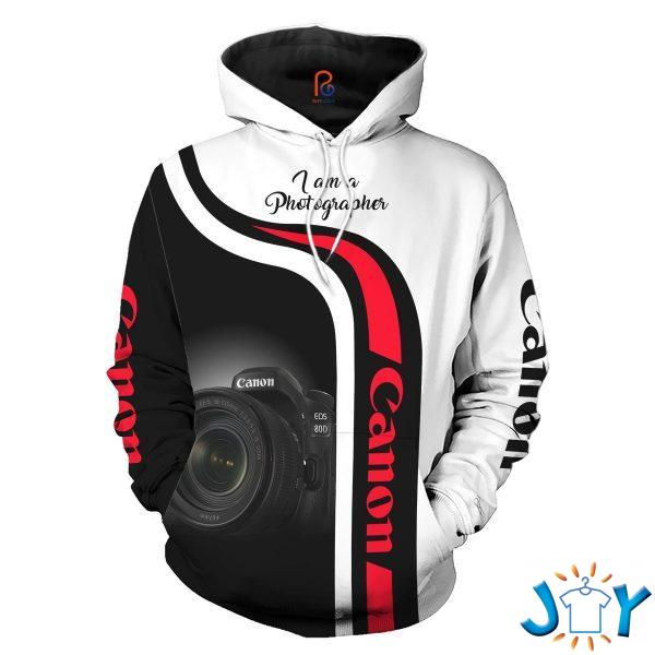 canon i am a photographer d all over printed hoodie