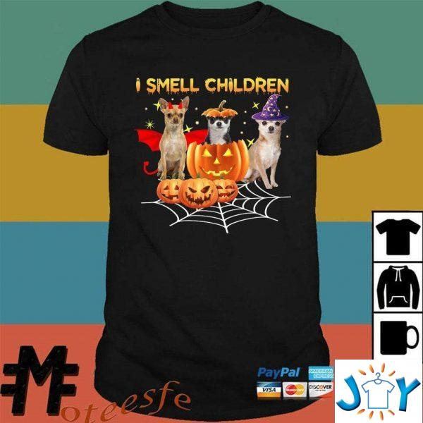 chihuahua witch i smell children halloween unisex t shirt M