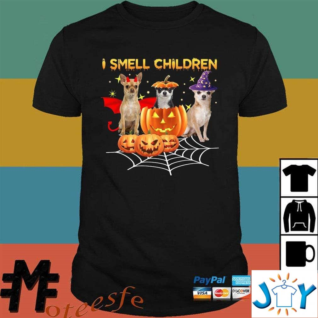 Chihuahua Witch I Smell Children Halloween Unisex T-Shirt