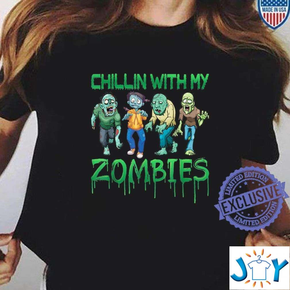 Chilling With My Zombie Halloween Costume Outfit Shirt