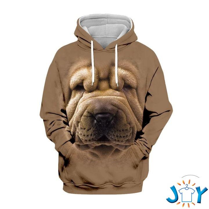 Chinese Shar-Pei 3D All Over Print Hoodie